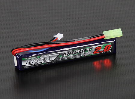 Turnigy Nano-tech 7.4V 2000mAh (15/25C) LiPo Stick Type Battery, Tamiya Mini Connector