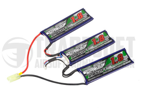 Turnigy Nano-tech 11.1V 1800mAh (25/50C) LiPo V-Type Battery, Tamiya Mini Connector