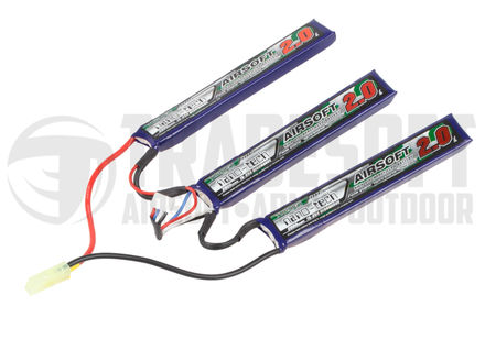 Turnigy Nano-tech 11.1V 2000mAh (15/25C) LiPo Crane Type Battery, Tamiya Mini Connector