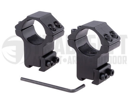 Vector Optics High Dovetail Scope Ring Mounts for 25.4mm (1 Inch) Scopes (for 11mm Rails)