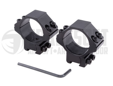 Vector Optics Low Dovetail Scope Ring Mounts for 30mm Scopes (for 11mm Rails)