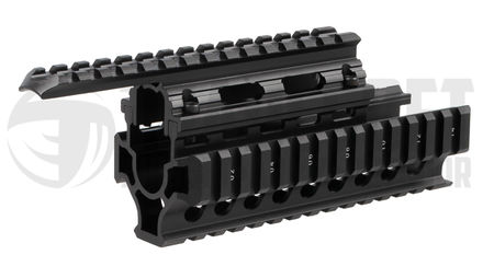 Vector Optics Aluminum RIS Rail with Rail Covers for AK Series, Black