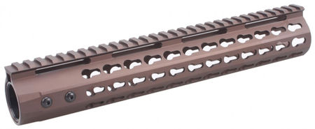 Vector Optics Aluminum KeyMod RAS Rail for M4/M16 Series, Burnt Bronze (12 Inches)