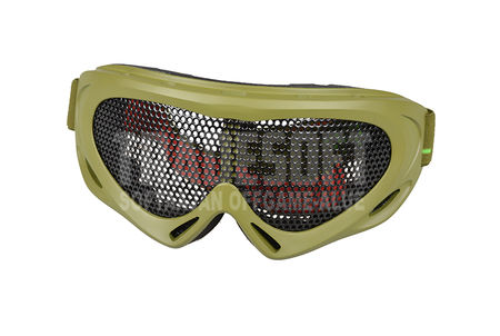 Nuprol Pro Reinforced Metal Mesh Goggles, Green