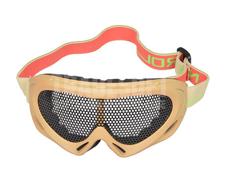 Nuprol Pro Reinforced Metal Mesh Goggles, Tan