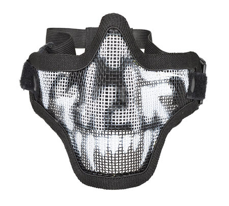 Emerson/Nuprol Defender Metal Mesh Lower Face Mask with Skull Pattern, Black