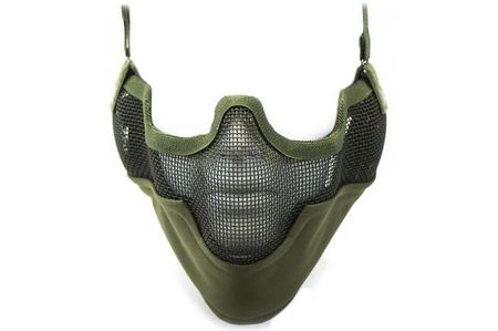 Nuprol Strike V2 Metal Mesh Lower Face Mask with Ear Protection, OD