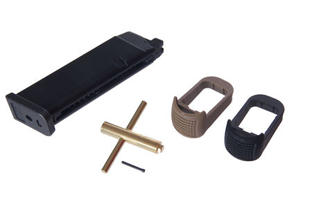 WE GBB Gas Pistol CO2 Magazine with Grip Extensions for G Series 17/18C/19/23F/34 (24 Rounds)