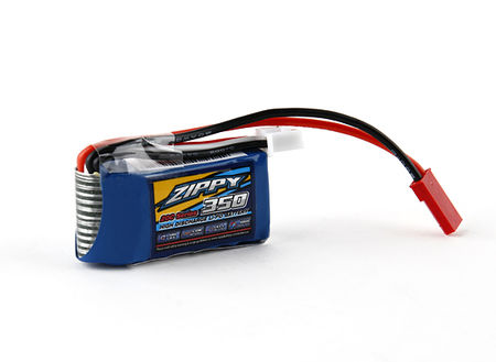 Zippy Flightmax 7.4V 350mAh (20C) LiPo Micro Type Battery, JST Mini Connector